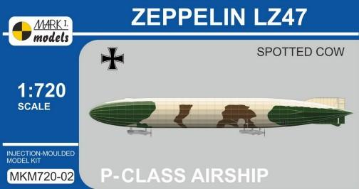 Mark I 1/720 Zeppelin LZ47 Spotted Cow P-Class German Airship Kit