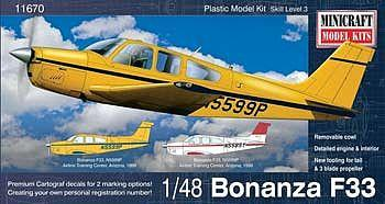Minicraft 1/48 Bonanza F33 Airline Training Aircraft Kit