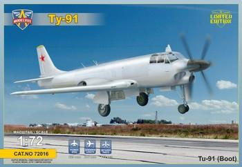 Modelsvit Aircraft 1/72 Tu91 Boot Soviet Naval Attacker Aircraft Kit