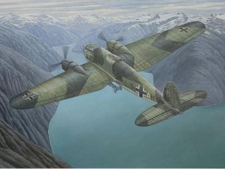 Roden Aircraft 1/144 Heinkel He111H6 WWII German Main Medium Bomber Kit