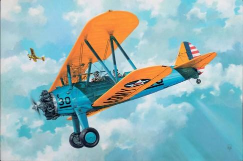Roden Aircraft 1/32 PT13 Kaydet Stearman US Trainer BiPlane (New Tool) Kit