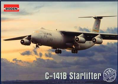 Roden Aircraft 1/144 C141B Starlifter Strategic Airlifter (New Tool) Kit