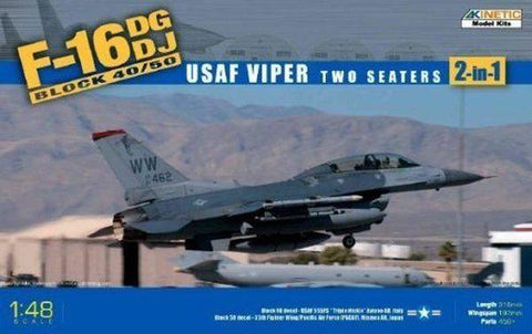 Kinetic Aircraft 1/48 F16DG/DJ Block 40/50 US Air Force Viper Fighting Falcon Kit