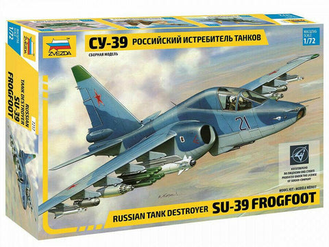 Zvezda 1/72 Russian Su39 Frogfoot Tank Destroyer Attack Aircraft (Re-Release) Kit