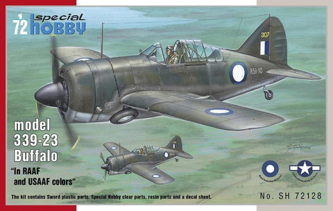 Special Hobby Aircraft 1/72 Buffalo Model 339-23 in RAAF & USAAF Colors Kit