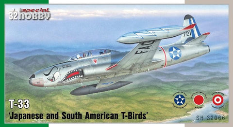 Special Hobby Aircraft 1/32 T33 T-Bird Jet Trainer Aircraft w/South American/Japanese Markings Kit
