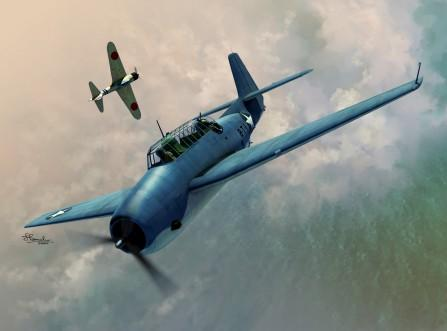 Sword Aircraft 1/72 TBF1 Avenger Aircraft over Midway & Guadalcanal Kit