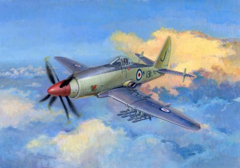 Trumpeter Aircraft 1/48 Wyvern S4 Early Version British Fighter Kit