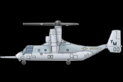 Trumpeter Aircraft 1/350 MV22 Osprey V/STOL Tilrotor Aircraft Set for Warships (3/Bx) Kit