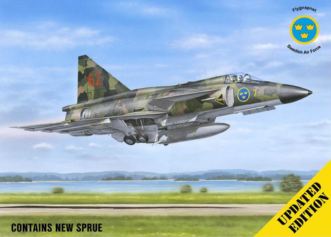 "Special Hobby 1/48 SAAB AJ 37 Viggen ""Attack Version"" - Updated edition Kit"