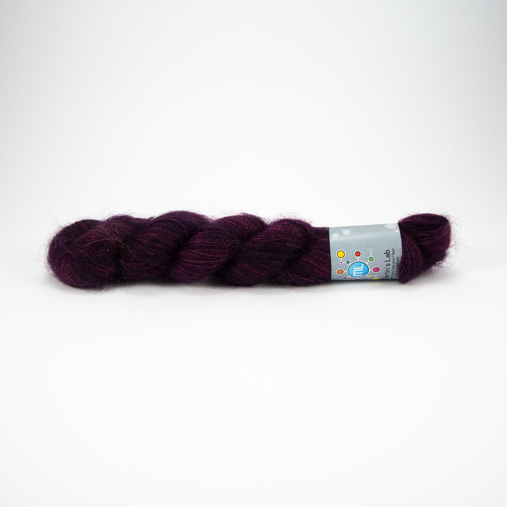 Silky Mohair - Bilberry Stains