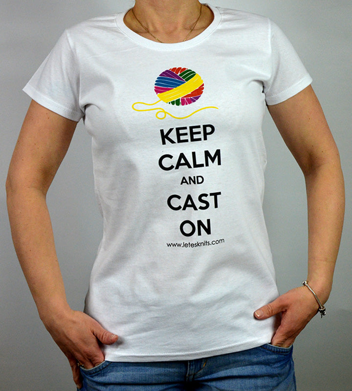 T-shirt - keep calm and cast on