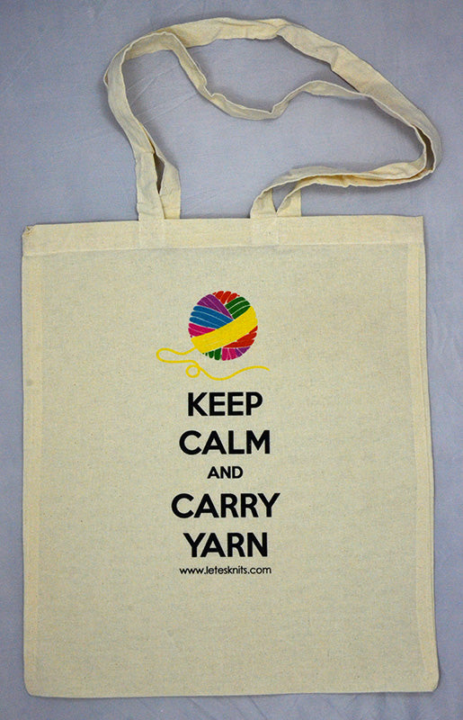 Tote Bag - Keep calm and carry yarn