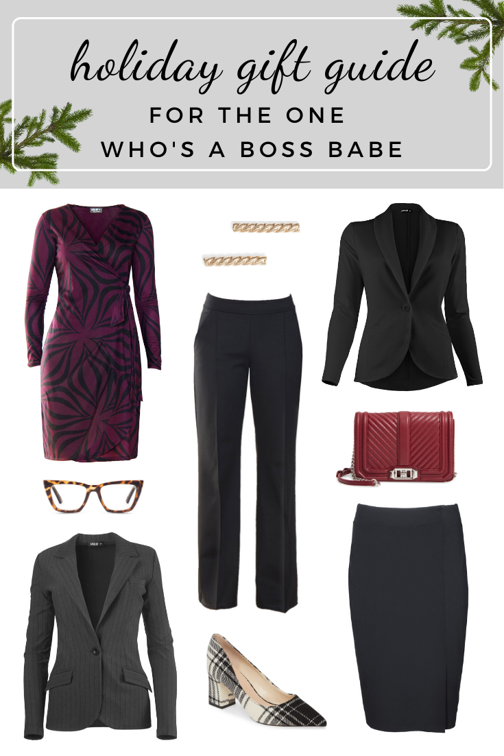 Collage of women's corporate attire