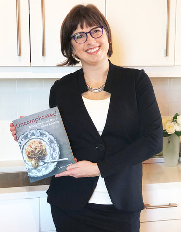 Claire Tansey with her new cookbook
