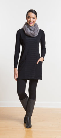 Addison square neck pocket tunic/dress