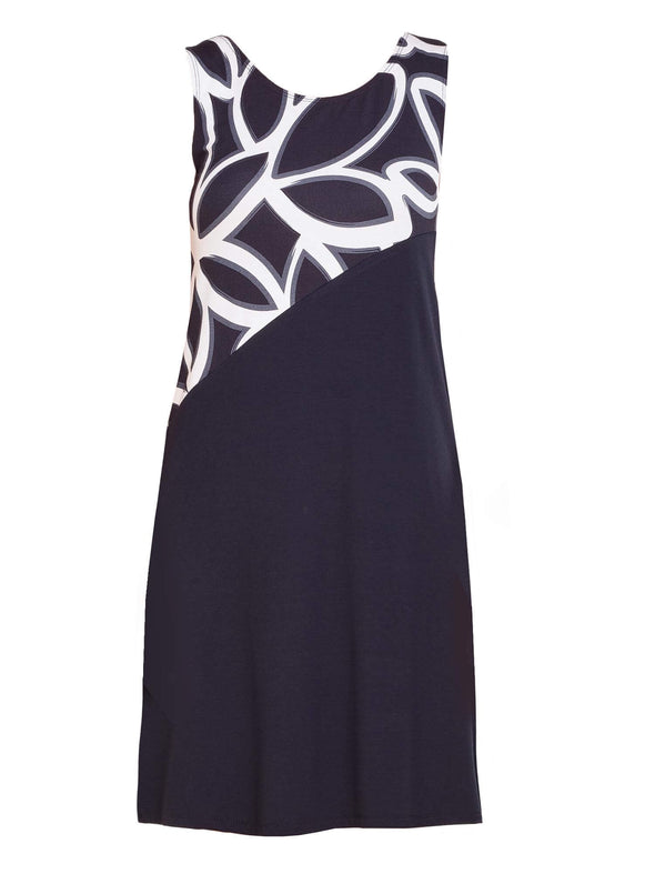 Adele asymmetrical colour block dress