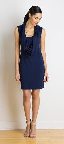 Adrienne sleeveless cowl dress