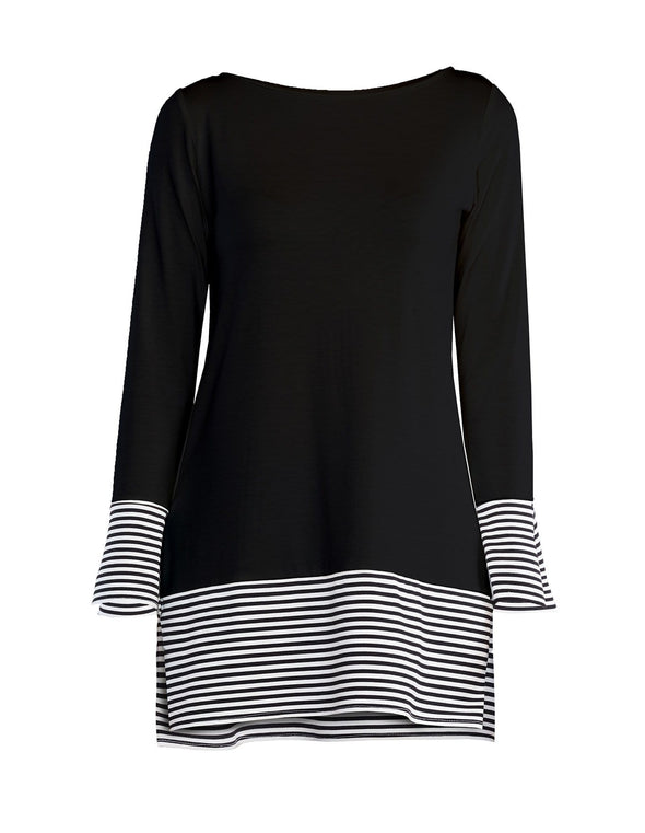 Ally striped cuff tunic