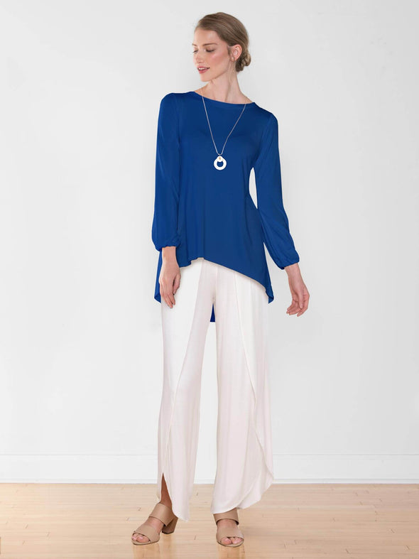 Angie gathered sleeve flowy top