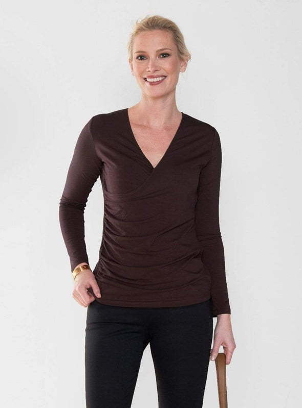 Annette faux wrap top