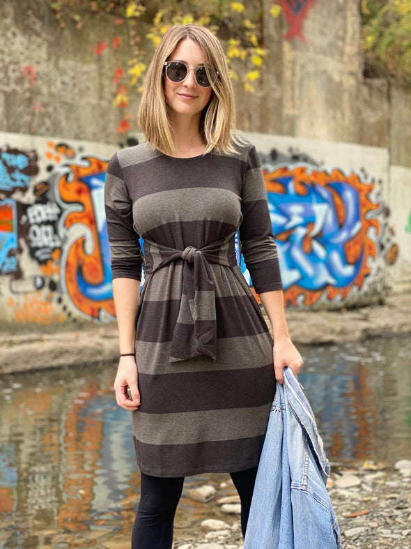 Ari tie sweater dress