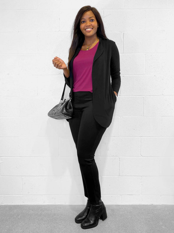 Asha tailored pocket cardi/blazer