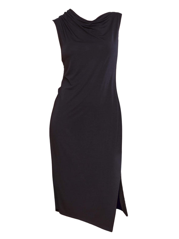 Autumn ruched neck dress