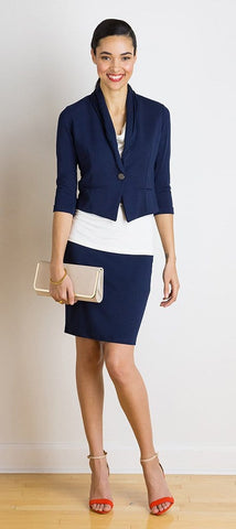 June banded pencil skirt