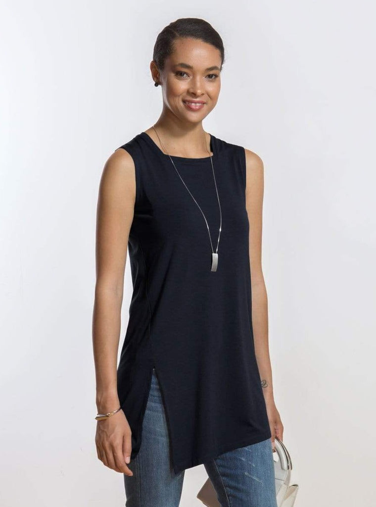Carissa square neck side slit tunic