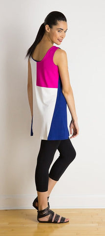 Chloe reversible geometric tunic