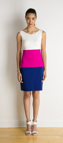Colby reversible tri-tone dress