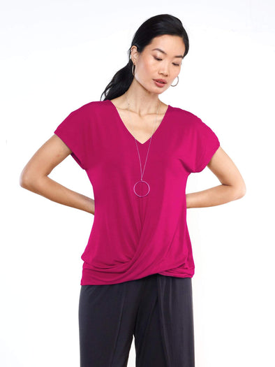 Eden twisted hem top - FINAL SALE