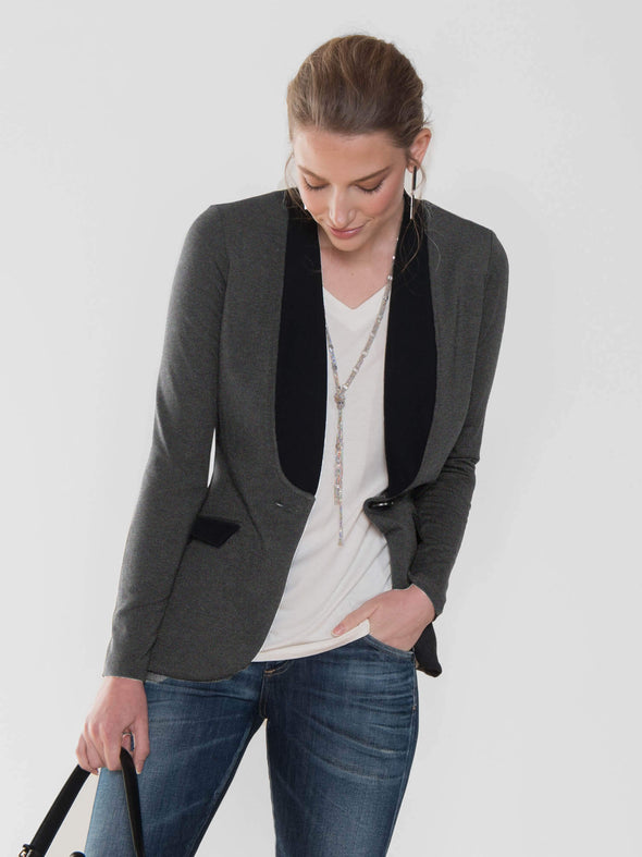 Ellen blazer with shawl collar