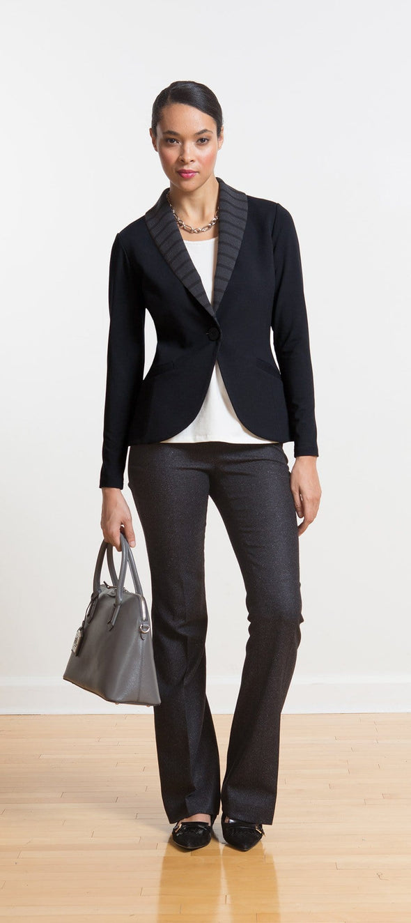 Ellie striped lapel soft blazer - FINAL SALE