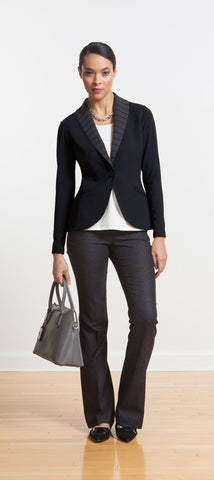 Ellie striped lapel soft blazer