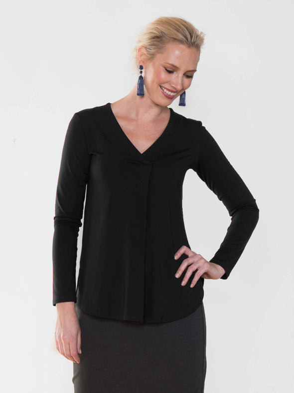 Elsa centre pleat top