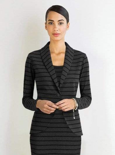 Emilia striped soft blazer