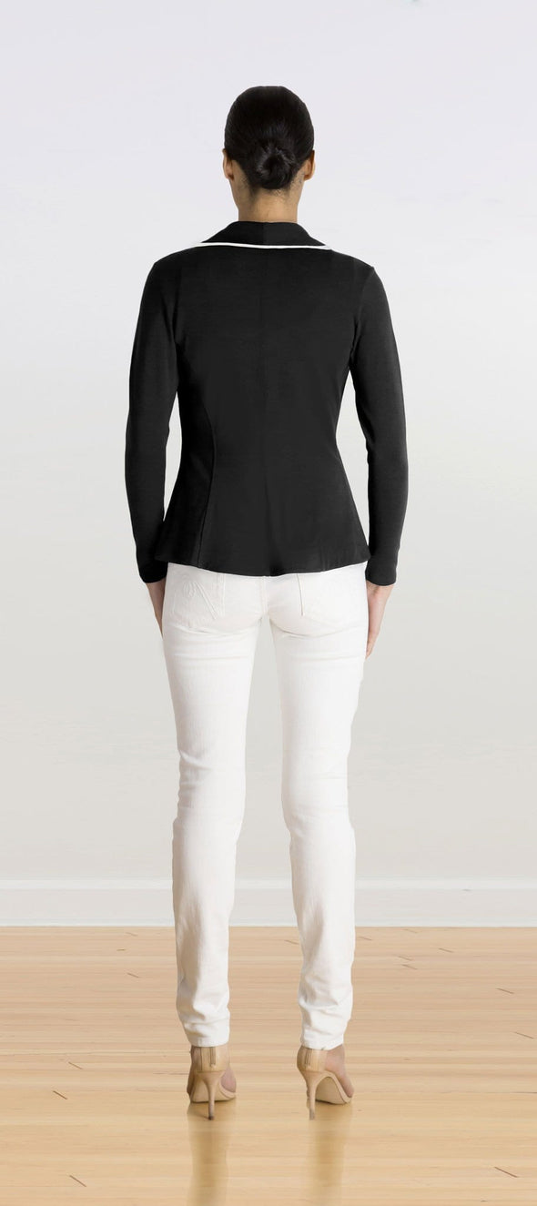 Emma soft blazer with piping - FINAL SALE