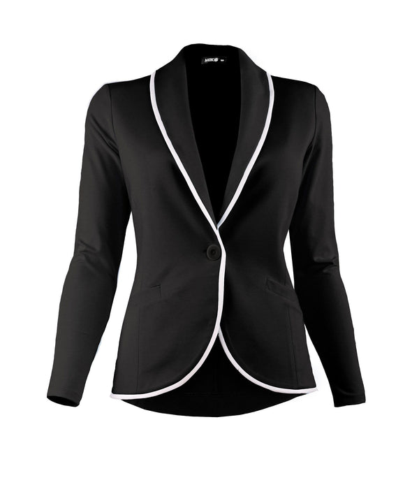 Emma soft blazer with piping