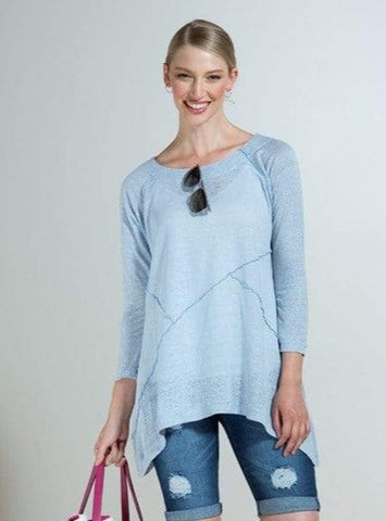 Evelyn linen aline tunic