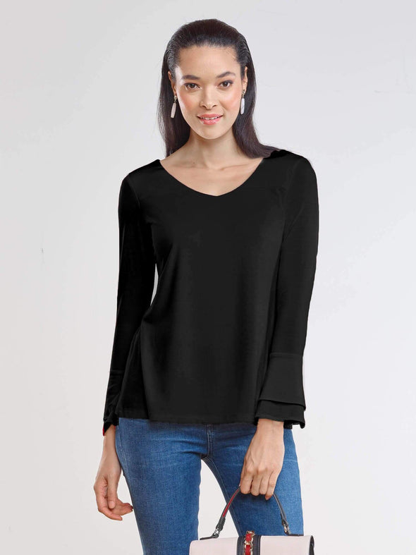 Felicity reversible bell sleeve top - FINAL SALE