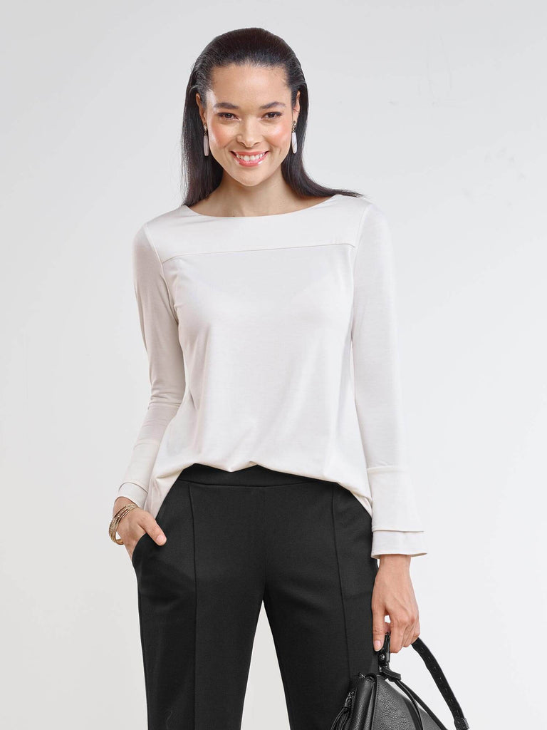 Felicity reversible bell sleeve top [Slightly flawed]