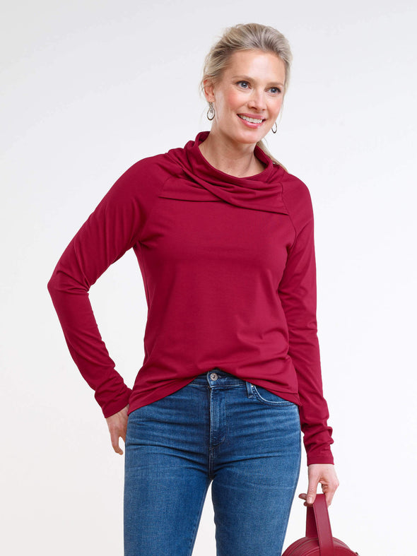 Finley crossover cowl top