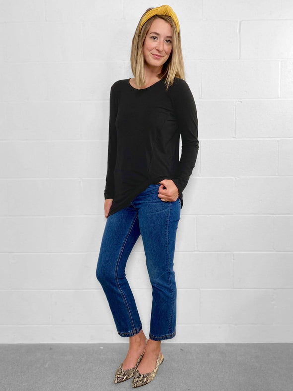 Harmony twisted hem top