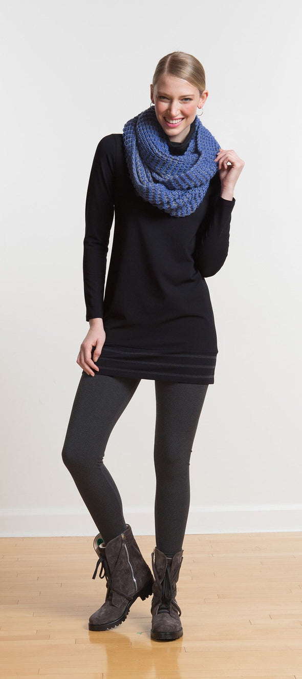 Harper striped turtleneck tunic - FINAL SALE