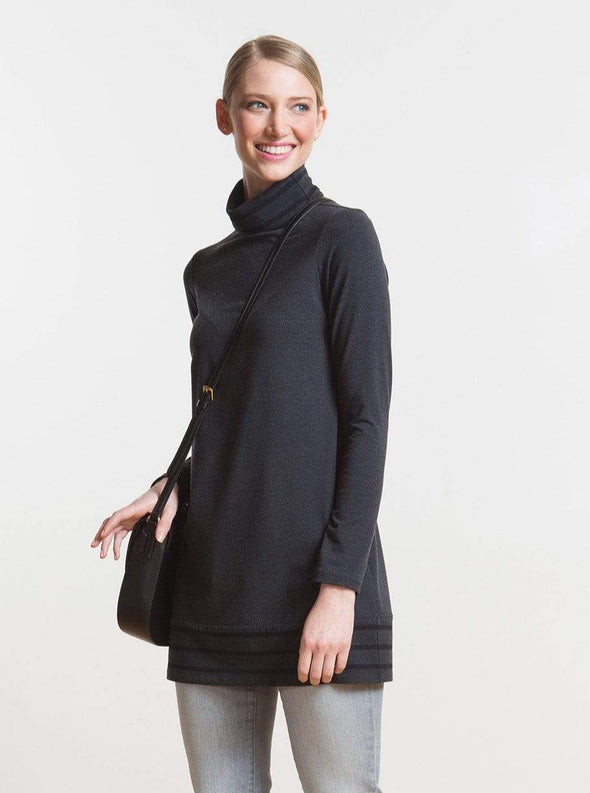 Harper striped turtleneck tunic