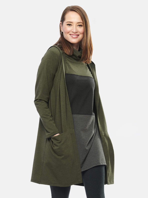Paulina hooded pocket cardi