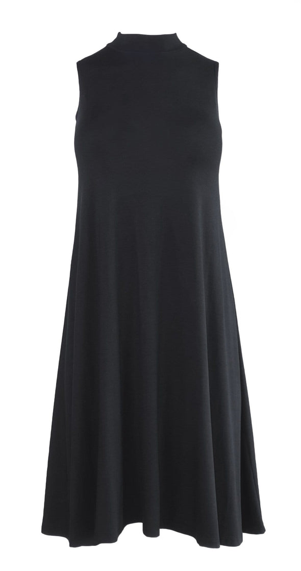 Jasmine mock-neck swing dress