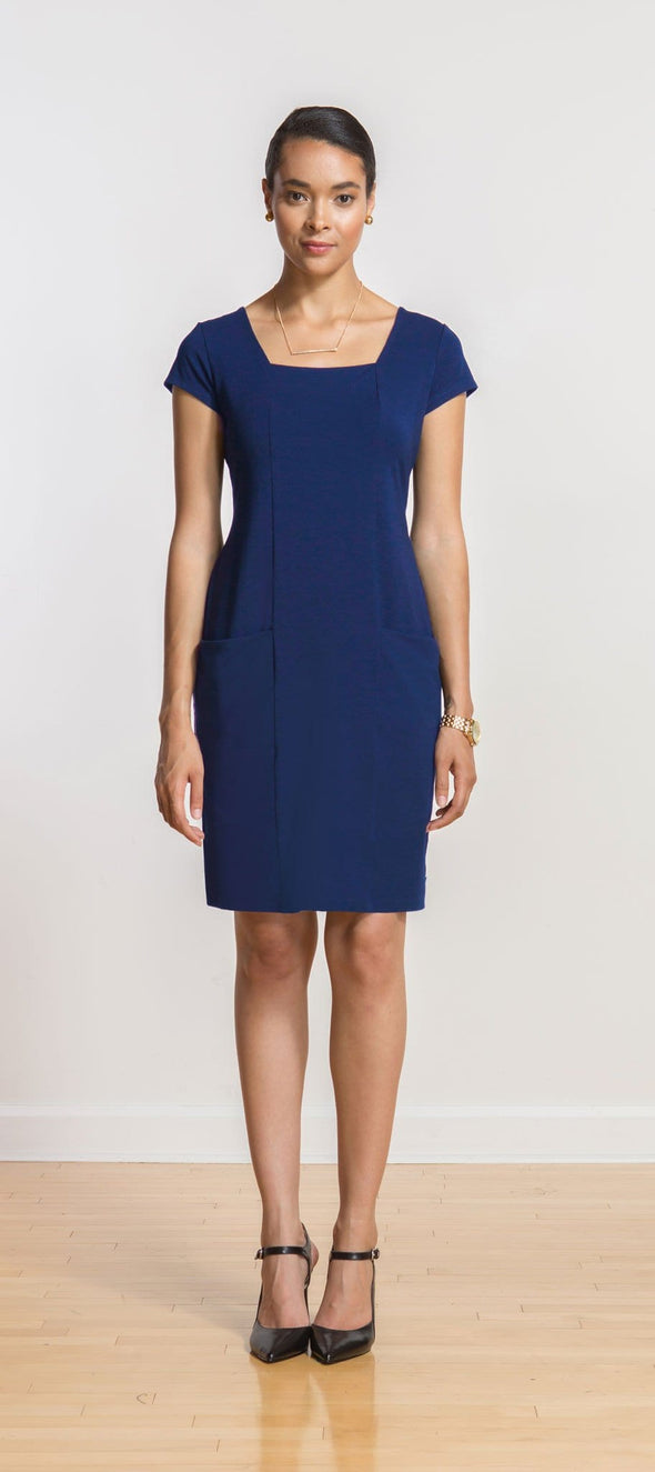 Jillian square-neck pocket dress - FINAL SALE